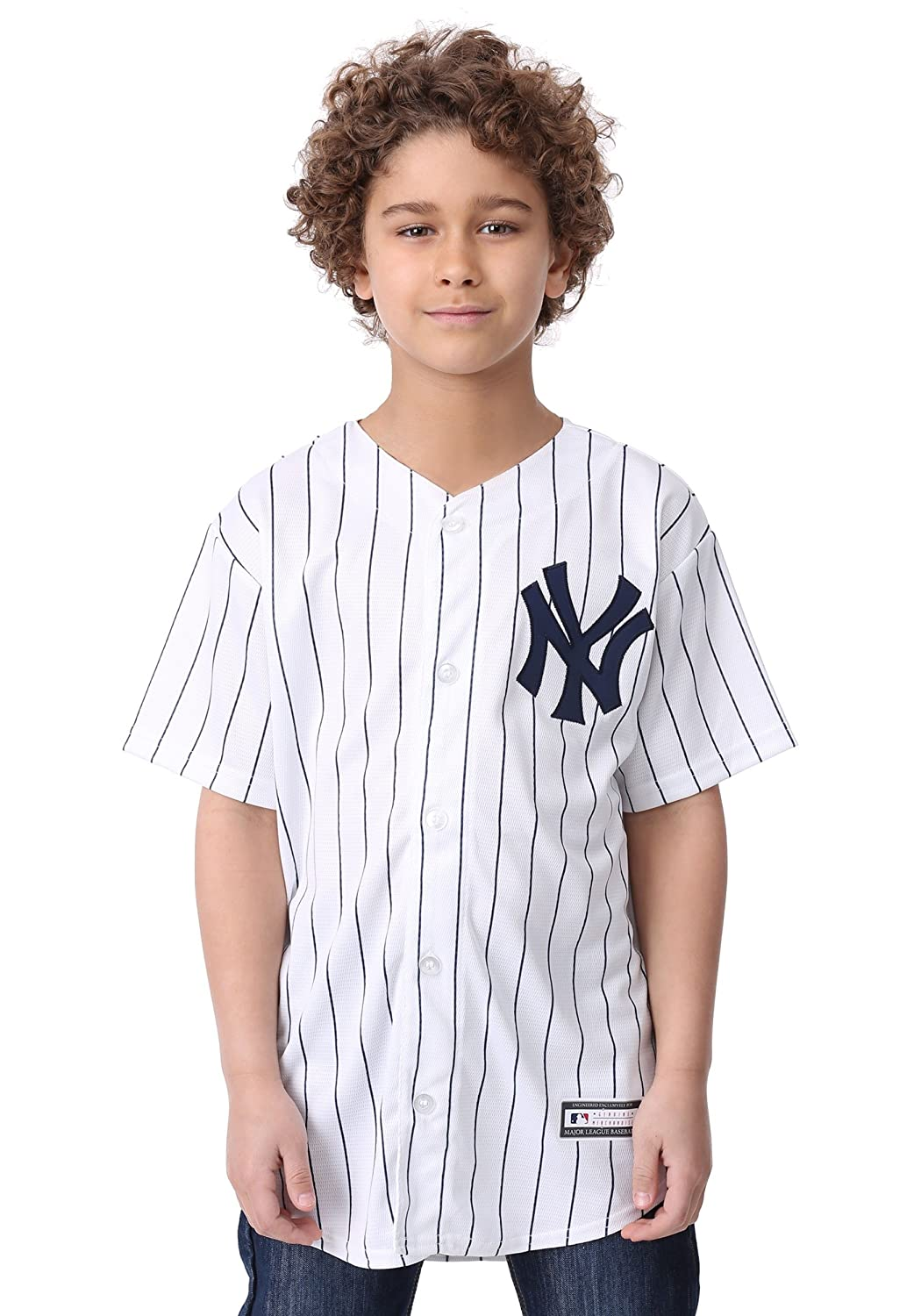 5a02e9e7a Amazon.com   Outerstuff Giancarlo Stanton New York Yankees  27 Youth Cool  Base Home Jersey   Sports   Outdoors