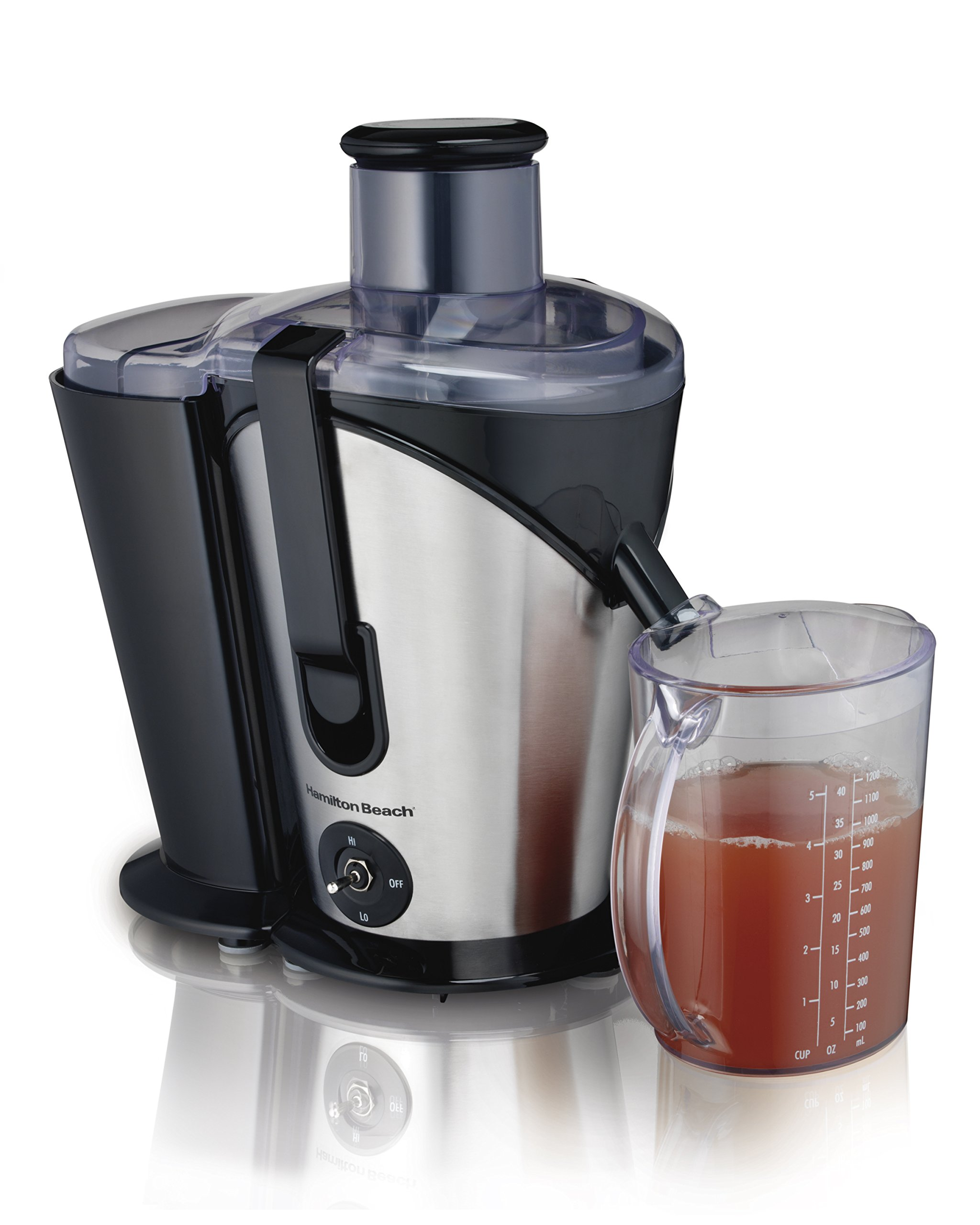 Hamilton Beach (67750) Juicer, Electric, 800 Watts, Easy To Clean, Black