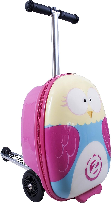 Zinc Flyte- Mochila Patinete con diseño de búho, Flyte Scooter & Case Owl (Imaginarium 89355)