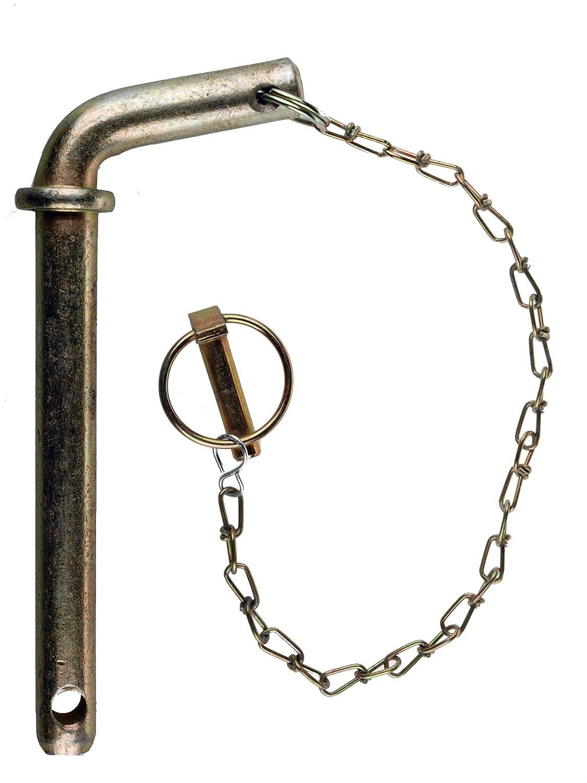 175 mm lang mit Kette und Klappstecker WAMO Sicherungsbolzen Steckbolzen /Ø22 mm