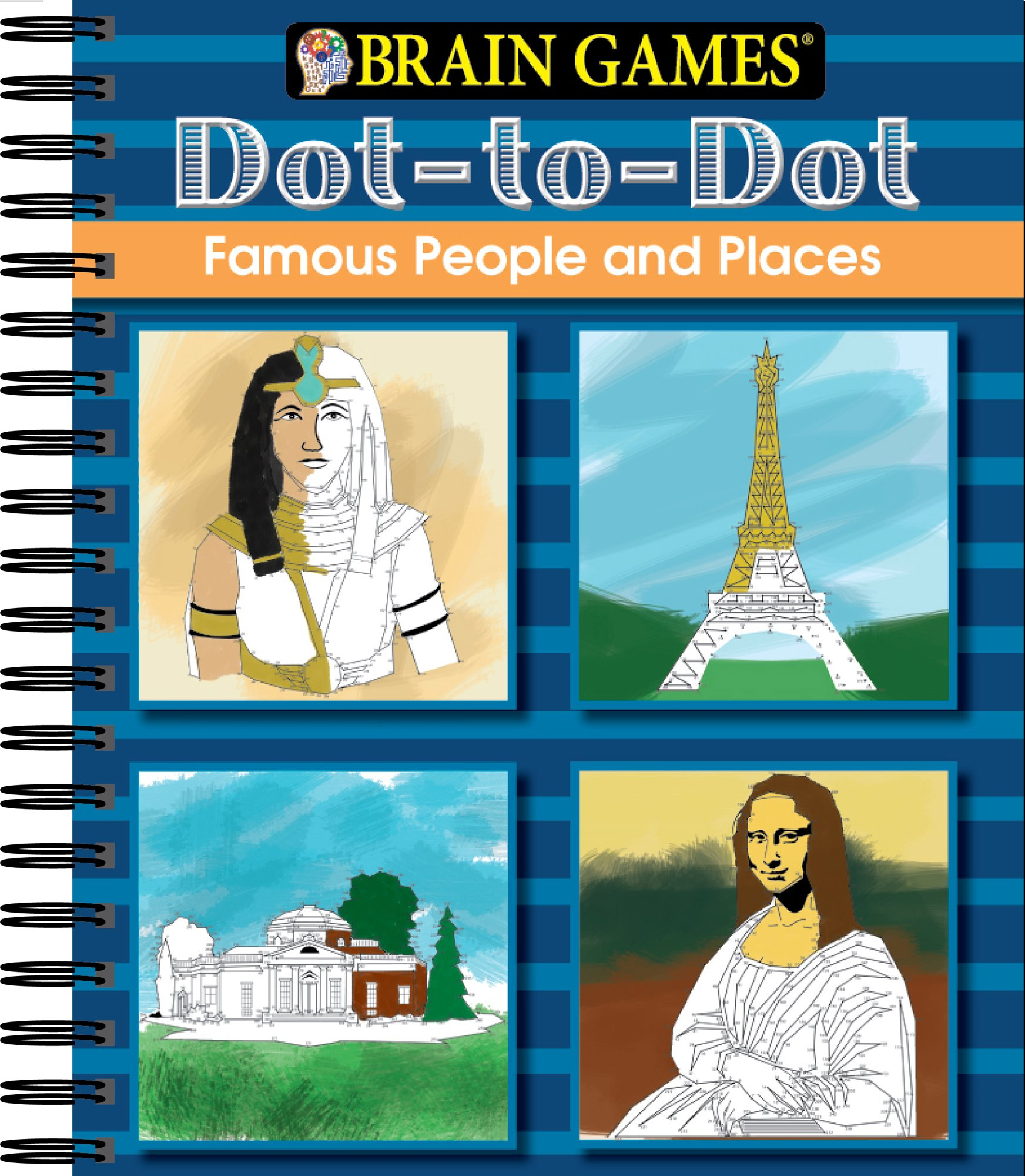 amazon com brain games dot to dot famous people and places
