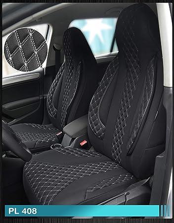 Ma/ß Sitzbez/üge kompatibel mit Mitsubishi ASX Fahrer /& Beifahrer ab BJ 2010 Farbnummer PL408