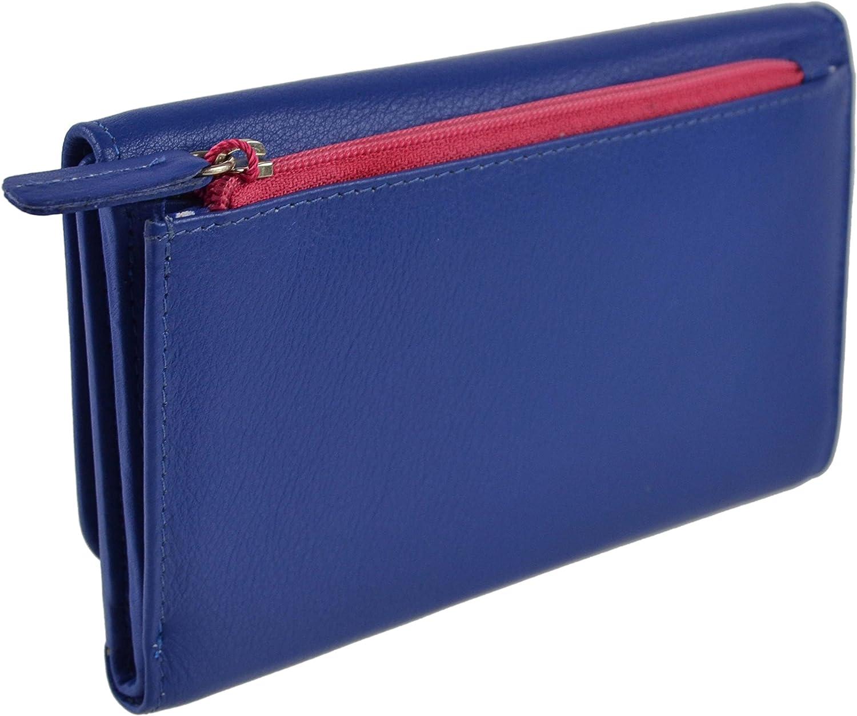 Mala Leather Womens Tri Fold Leather Purse Wallet