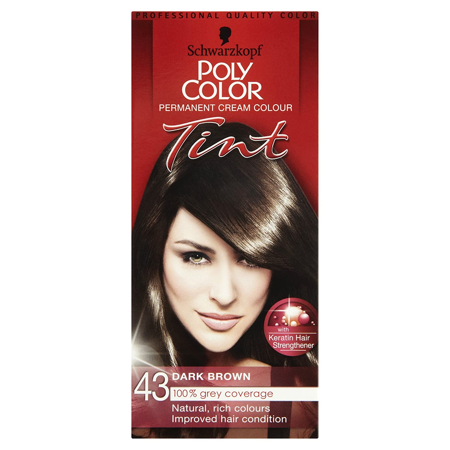 Schwarzkopf Poly Tint Colour Medium Brown Number 41 Pack Of 3