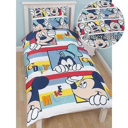 Disney Character Spiderman Mickey Mouse Reversible Duvet Cover Kids Bedding Set
