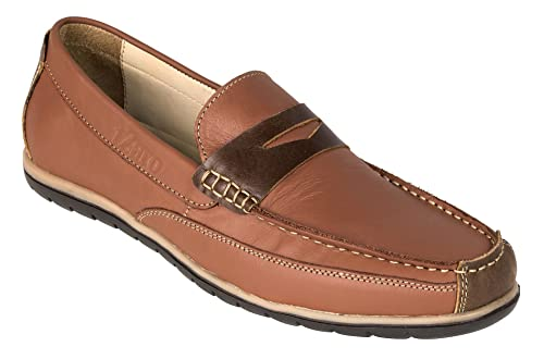 d09bf4068d98 tZaro Genuine Leather TP1902SDLTN Loafers  Buy Online at Low Prices in  India - Amazon.in