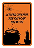 """Reflective Aluminum Halloween Sign """"Jeepers"""