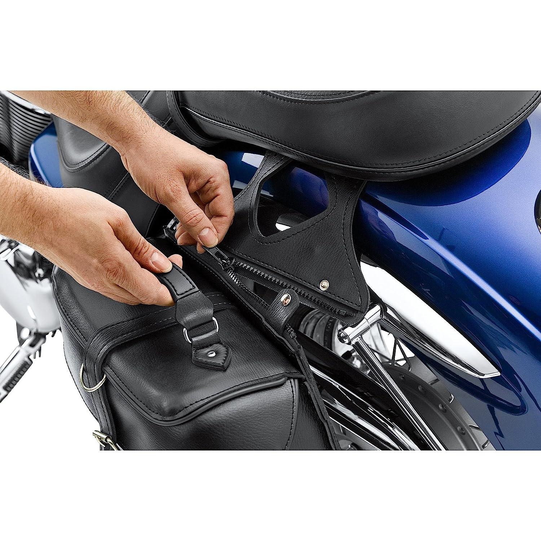 unisex nero QBag Borsa da Sella per Moto Kunstledersatteltaschenpaar 08 abnehmbar 20 Liter Stauraum cuoio estate Chopper//Cruiser