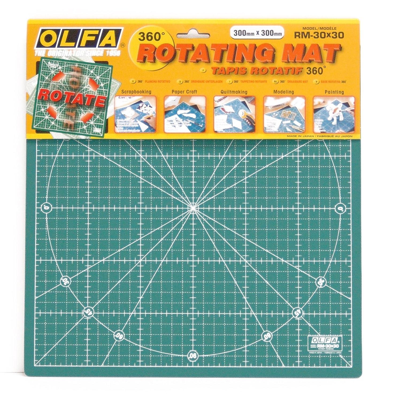 OLFA Tappetino rotante, 1 pz, 30 x 30 cm, verde RM-30