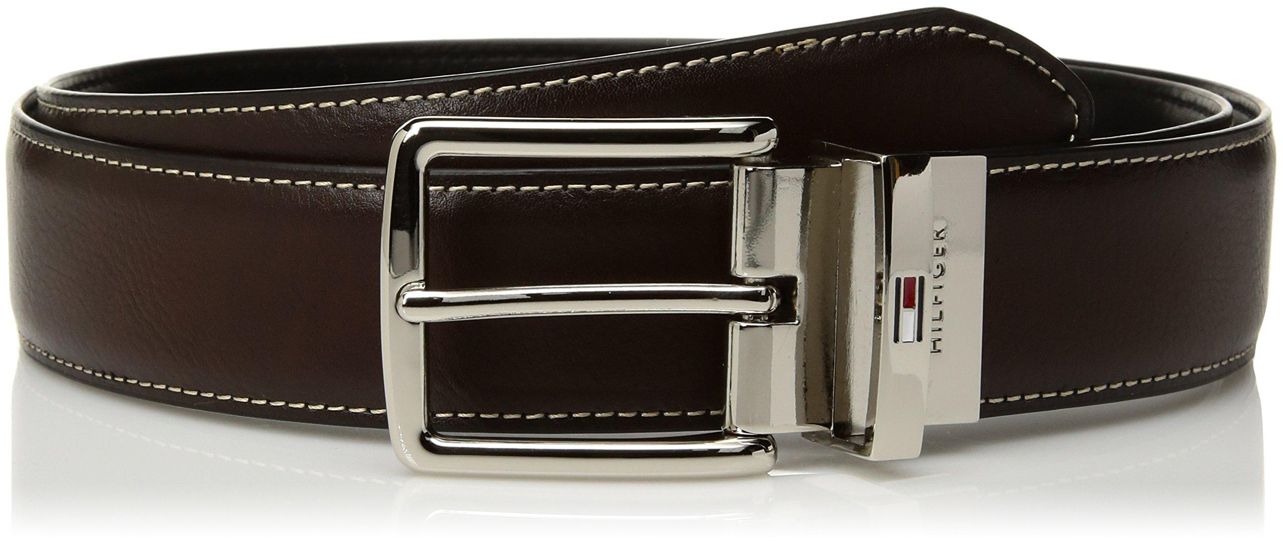 Tommy Hilfiger Men's Casual Reversible Belt, tan/black, 34