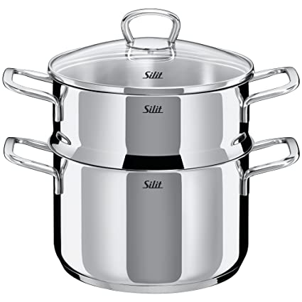 Silit Style Olla para cocción al Vapor, Acero Inoxidable ...