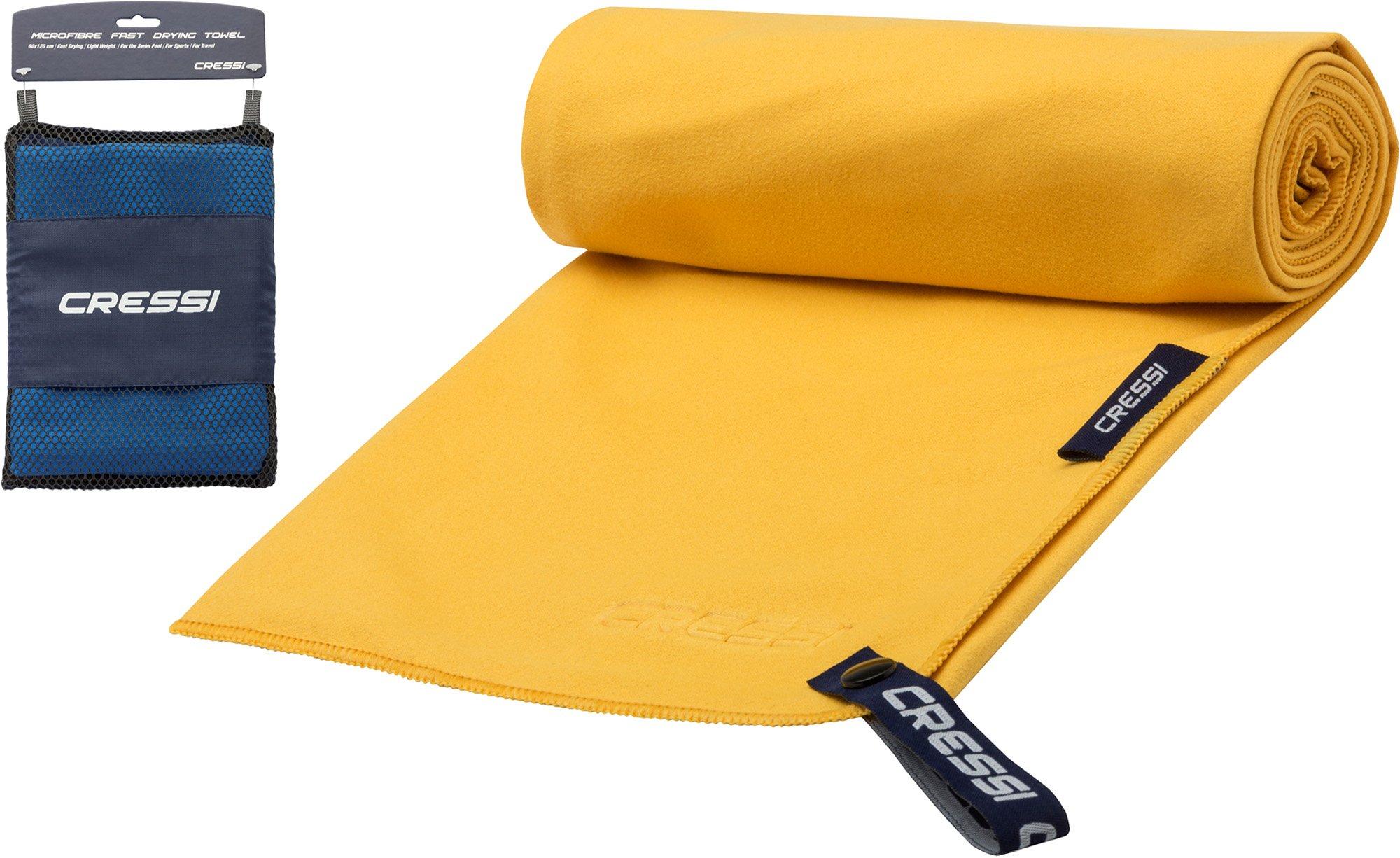 Cressi Microfibre Fast Drying Beach Towel Toalla de Sport, Unisex Adulto, Amarillo, 90x180cm