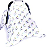 Soft & Breathable Baby Car Seat Covers For Privacy, Sound Sleep. Muslin Baby Car Seat Canopy XL For Newborn.