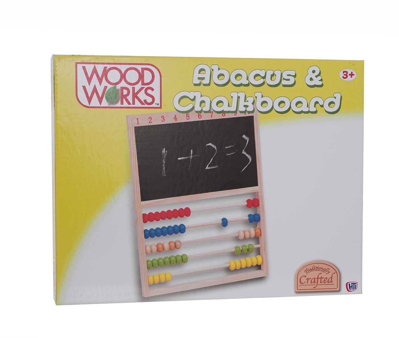 Wood Works Abacus and Chalkboard Game HTI 1372056