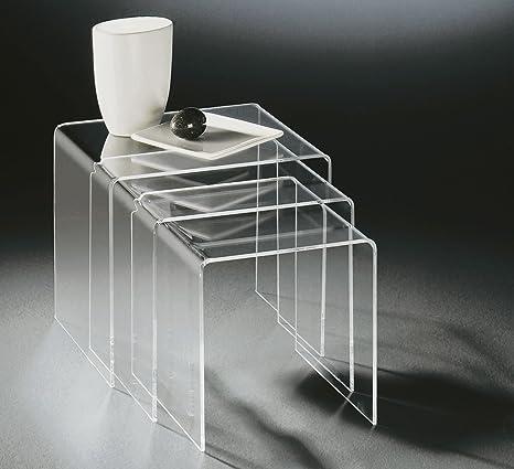 HOWE Deko Haute Tables gigognes 3 Acrylique en qualité 80nwmN