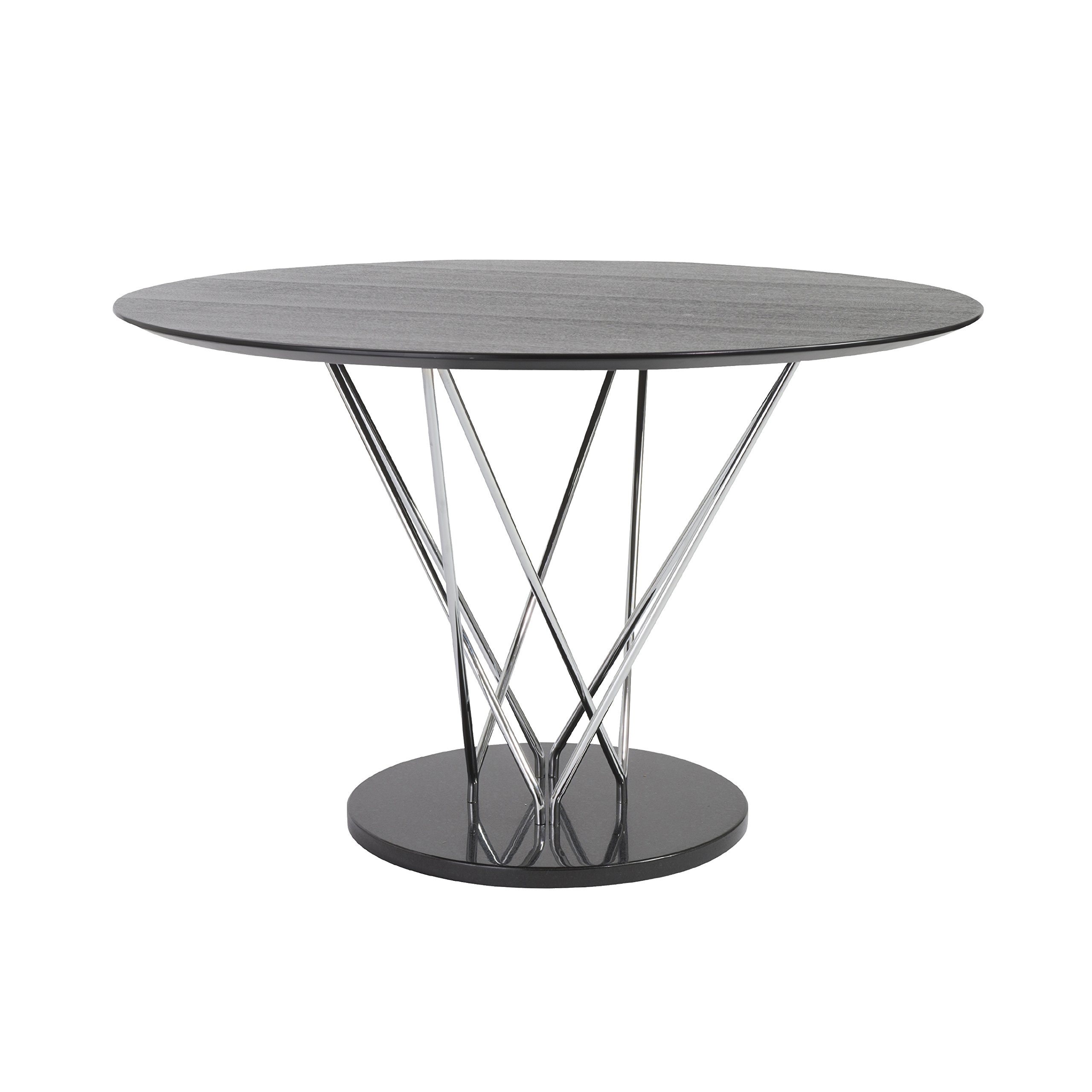 47'' Round Ebony and Steel Meeting Table by eS (Image #1)