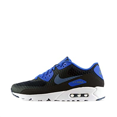 Nike Men's Air Max 90 Ultra Essential Running Shoes, Dark ObsidianBlack, 8 M US