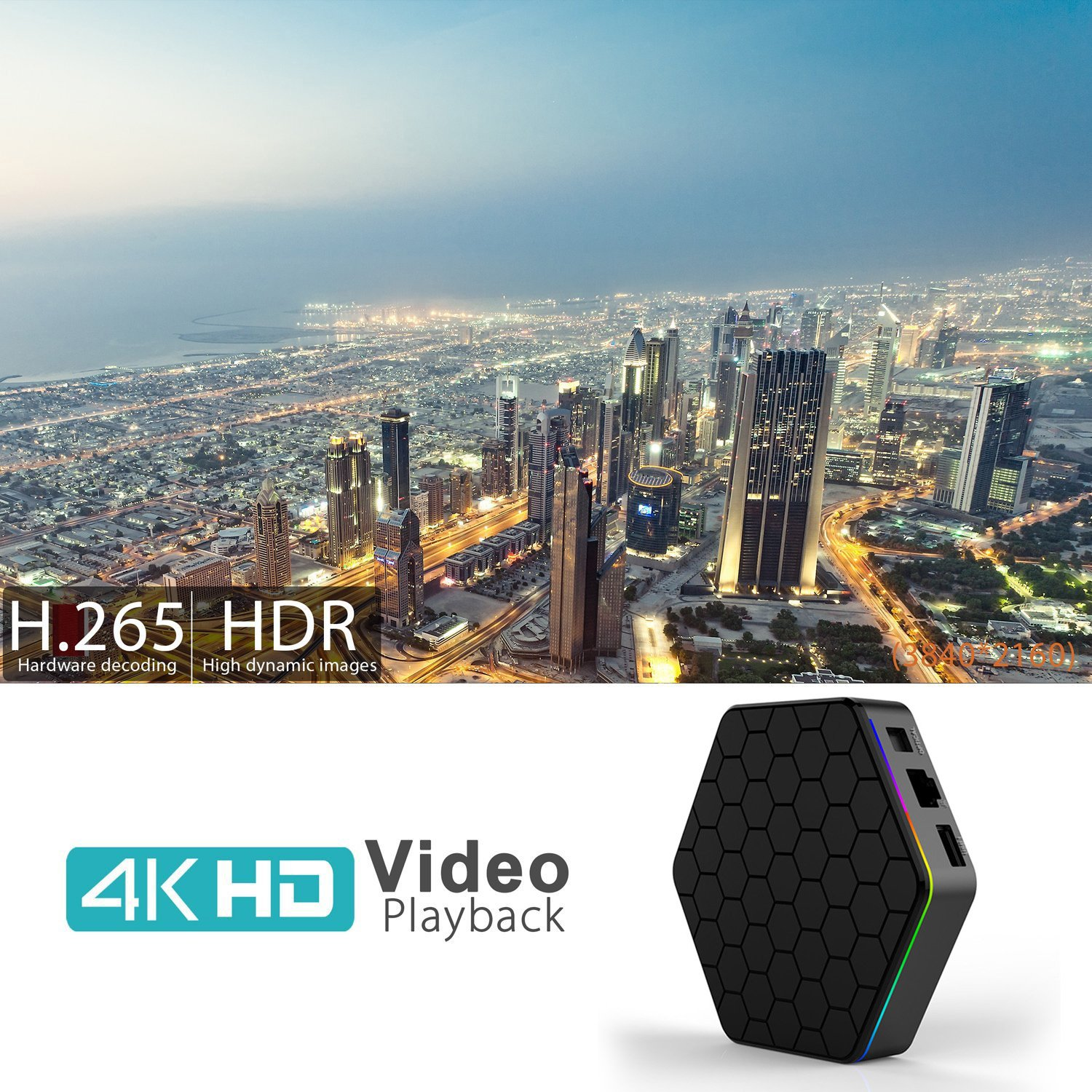 Android 7 1 TV Box,T95Z Plus Android Box 2GB+16GB Dual WiFi 2 4GHz/5GHz  1000M LAN Amlogic S912 Octa-Core Supporting 4K (60Hz) Full HD