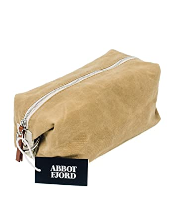 70262d78ed6a Amazon.com   Dopp Kit by Abbot Fjord - Mens and Womens Water-Resistant Waxed  Canvas Toiletry Bag for Travel - Durable and Adjustable (Tan)   Beauty