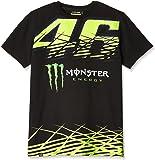 ヤマハ(YAMAHA) ロッシ VR46 Tシャツ モンスターエナジー&46BIGロゴ ブラック Sサイズ Q5D-YSK-195-00W