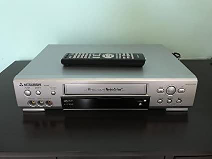 Mitsubishi Precision Turbo Drive 4 Head Hi-Fi Stereo VCR