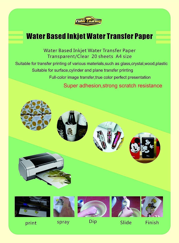für Laserdrucker 1x Decal Folie transparent klar
