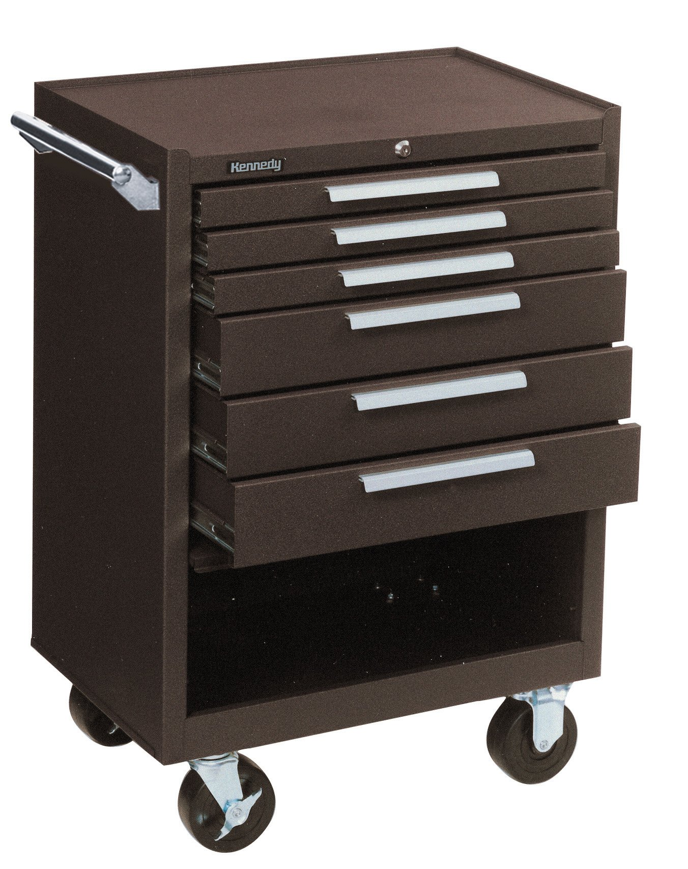 Kennedy Manufacturing 378Xr 27'' 8-Drawer Industrial Tool Storage Roller Cabinet With Chest And Wheels, Industrial Red