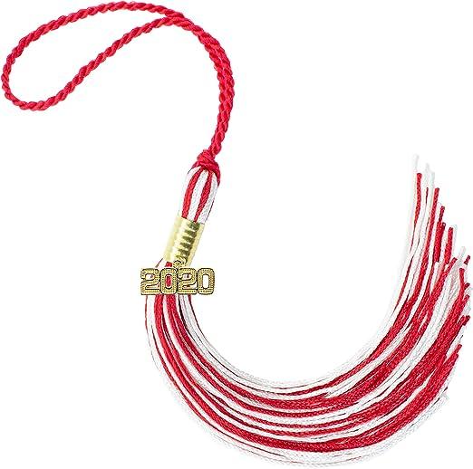 "NEW Orange /& White Class 2014 Charm Graduation Tassel 9/"" Jostens"