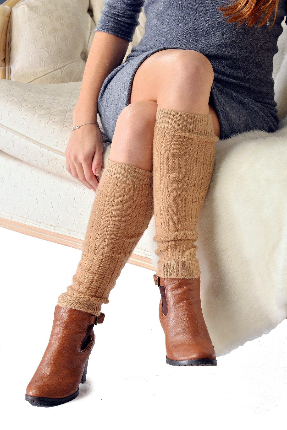 Pure Cashmere Leg Warmers (Vanilla)