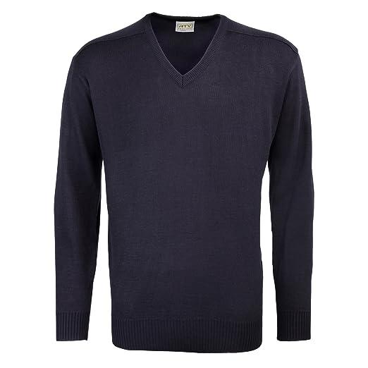 RTY Workwear Herren Acryl-Pullover mit V-Ausschnitt
