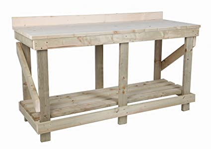 Tremendous Mc Timber Products Ltd 6Ft Heavy Duty Wooden Work Bench With Bralicious Painted Fabric Chair Ideas Braliciousco