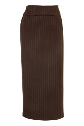 2375cc1692 Busy Clothing Womens Brown Stripe Long Skirt - Size 18: Amazon.co.uk:  Clothing