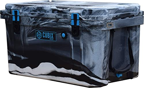 Cubix Camo Cooler 45 Quart Great for Hunting Ice Chests and Coolers Lifetime Rotomolded Ice Cooler Portable and Hard Camping, Fishing, Travel, Beach and Patio