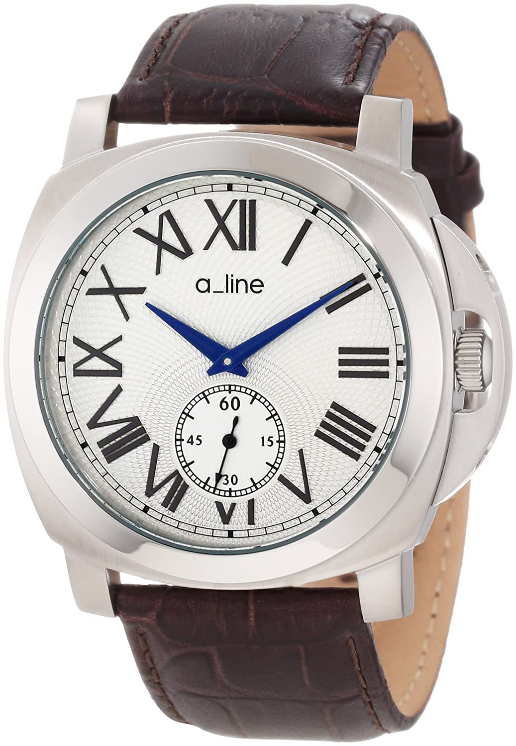 a_line Damen 80007-02-BR Pyar Silver Textured Dial Brown Leather Uhr