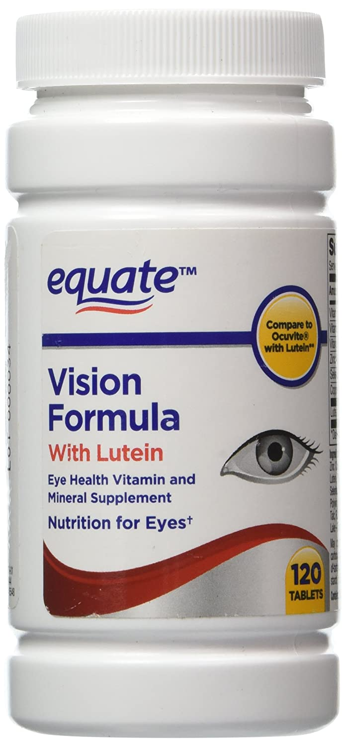 Lutein With Optilut 10 Mg: Equate Vision Formula With Lutein, Eye Health Vitamin 120