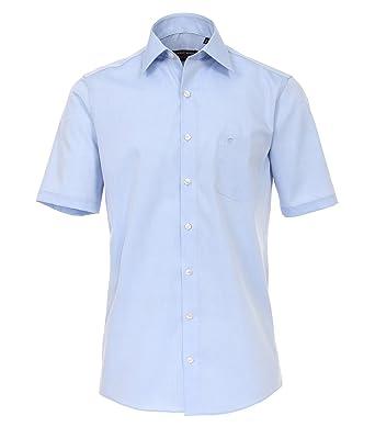 CASAMODA Herren Popeline Hemd Halbarm Uninah 008070 Comfort Fit 100%  Baumwolle