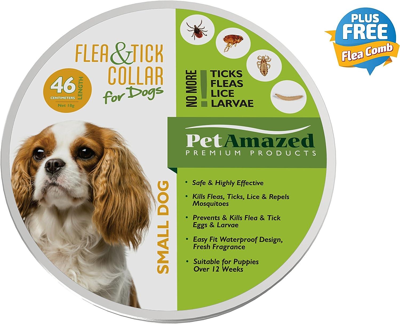 PetAmazed Collar de pulgas y garrapatas Perros pequeña de 46 cm ...