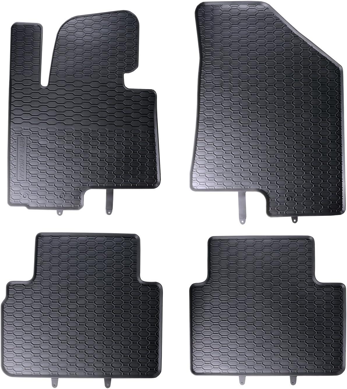 Tapis de sol sur mesure pour 1199128210011 set de 4 tapis de voiture noir