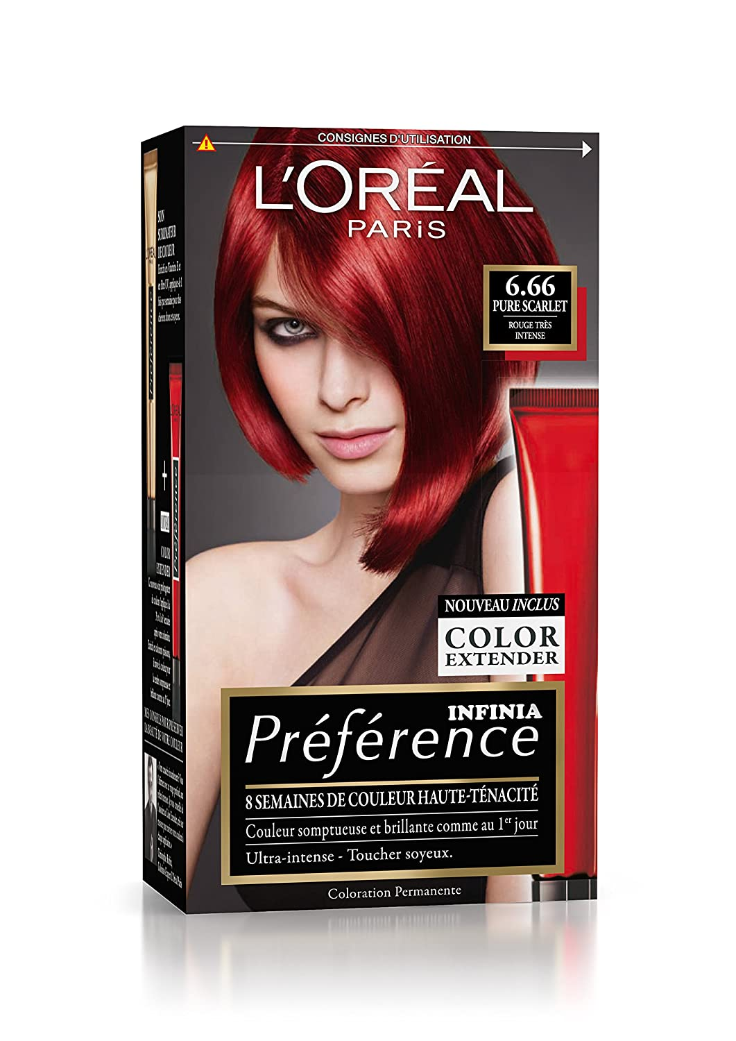prfrence loral paris coloration permanente 666 rouge trs intense - Coloration Rouge Sans Ammoniaque