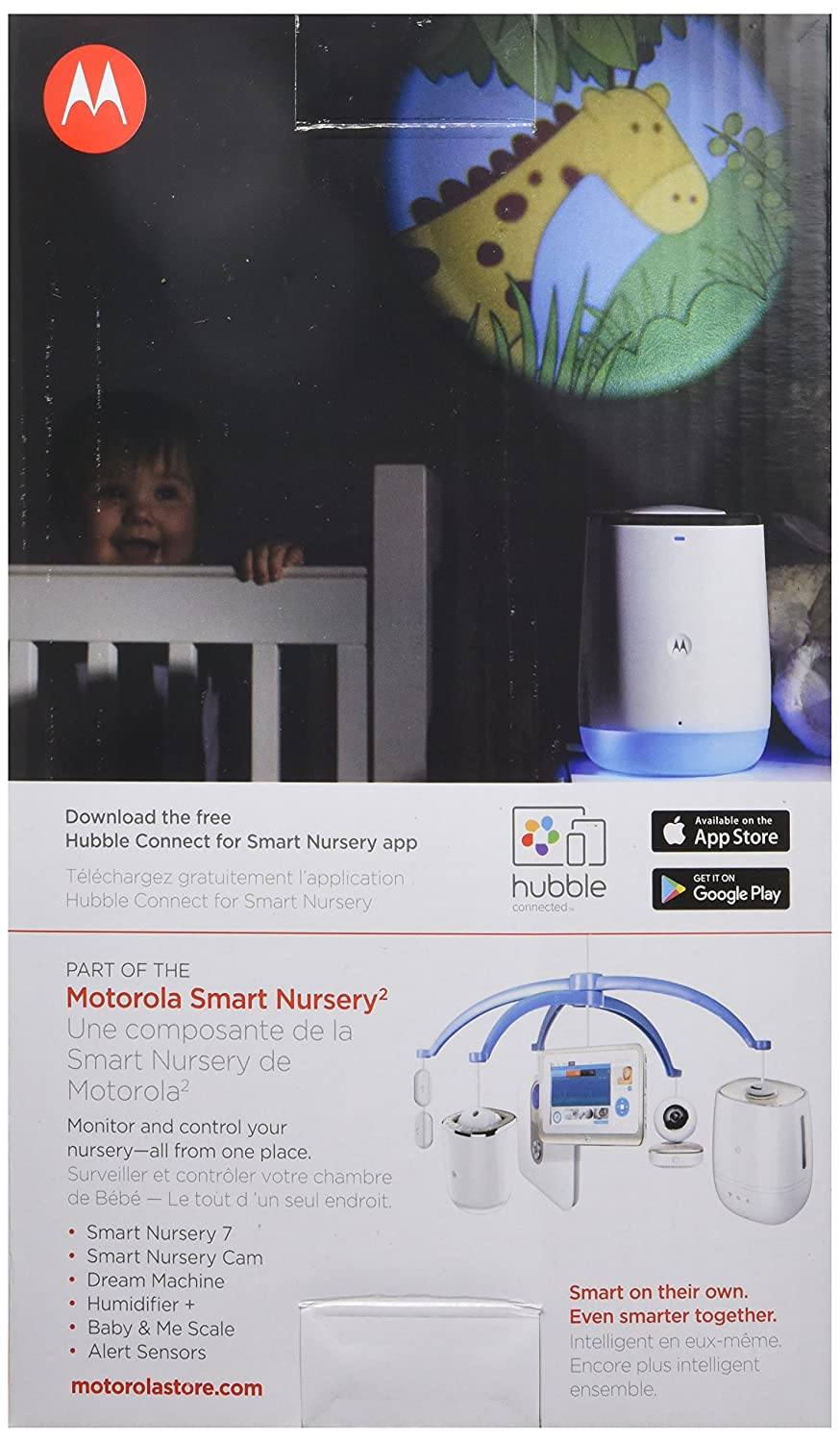 Motorola Smart Nursery Dream Machine Connected Sound and Light Projector with Audio Monitoring
