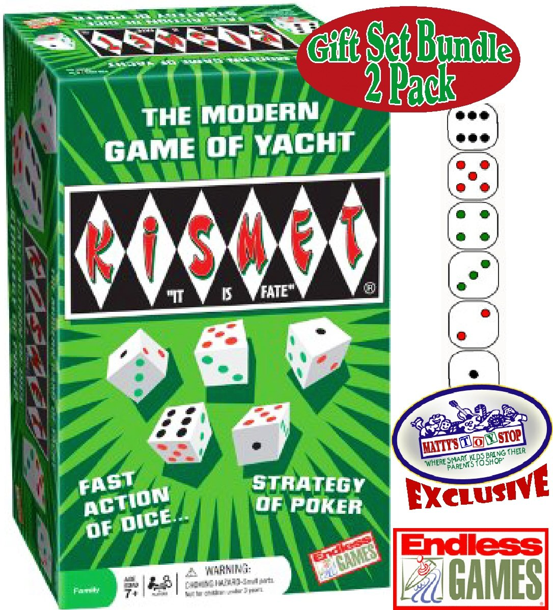 Kismet Dice Poker Game of Modern Yacht & Replacement Scorepads Deluxe Gift Set Bundle - 2 Pack by Endless Games (Image #2)
