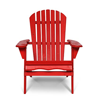 Fabulous Carabelle Bac001Rd 3591 Villaret All Weather Outdoor Patio Natural Fir Wood Folding Adirondack Chair Red Squirreltailoven Fun Painted Chair Ideas Images Squirreltailovenorg
