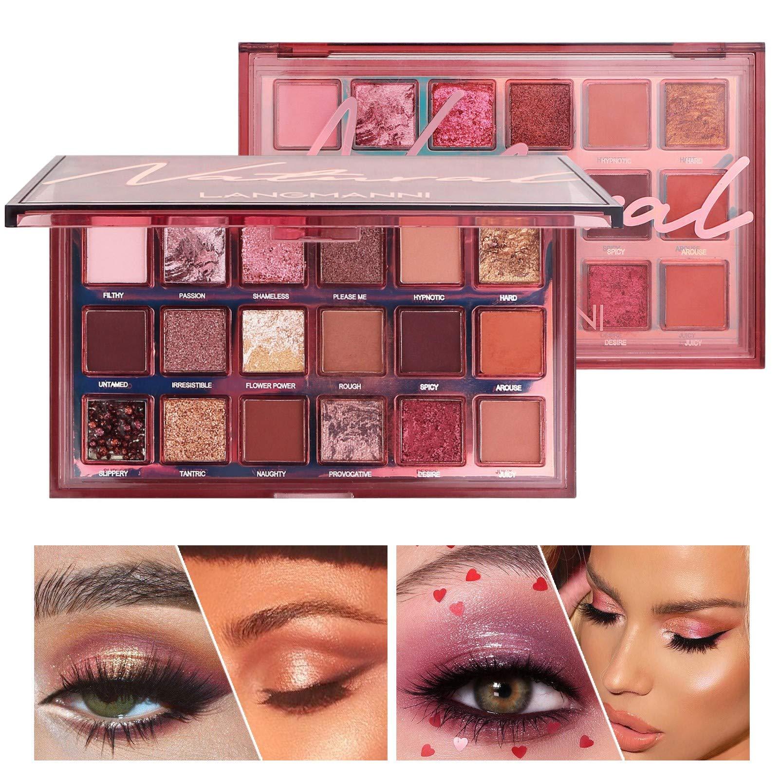 Fashion Matte Eyeshadow Palette Nude eye Makeup Glitter Pigment Smoky Eye Shadow