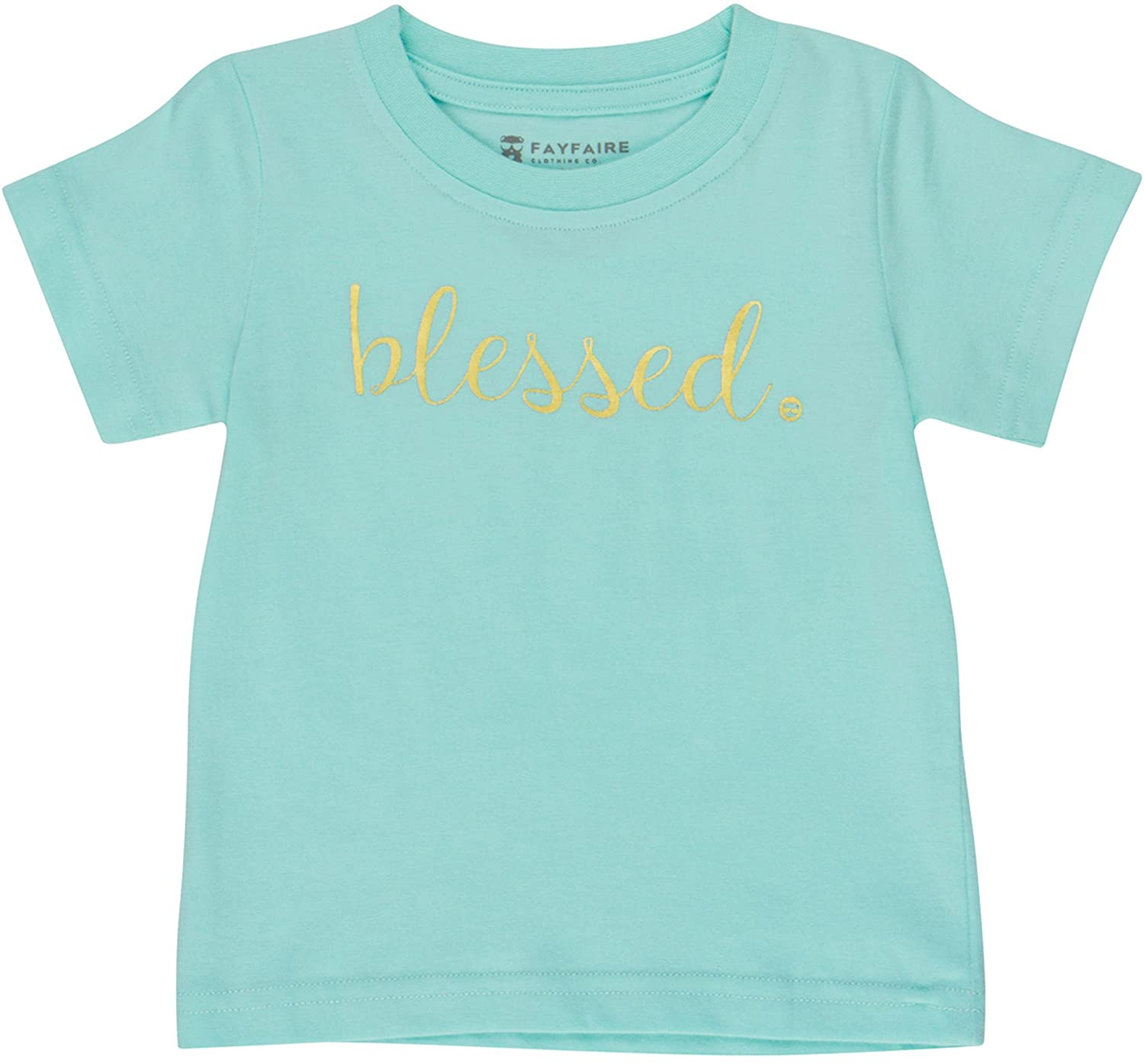 Baptism Gifts Christening Outfit by Fayfaire   Boutique Quality Blessed 2T BLESSED-Aqua2