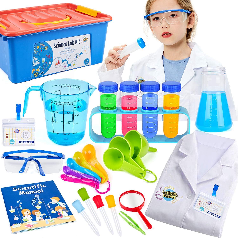 Tacobear Juegos Experimentos para Niños Ciencia Experimentos Kit con Química Juguete Bata de Laboratorio Disfraz de Científico Juego de rol Regalo para niños: Amazon.es: Juguetes y juegos