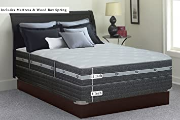 """Spring Air 11"""" Plush Full Size Mattress and Box Spring - Euro Top Gel Infused"""