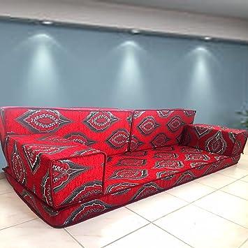 Spirit Majlis árabe Hecho a Mano Piso sofá, árabe Jalsa ...