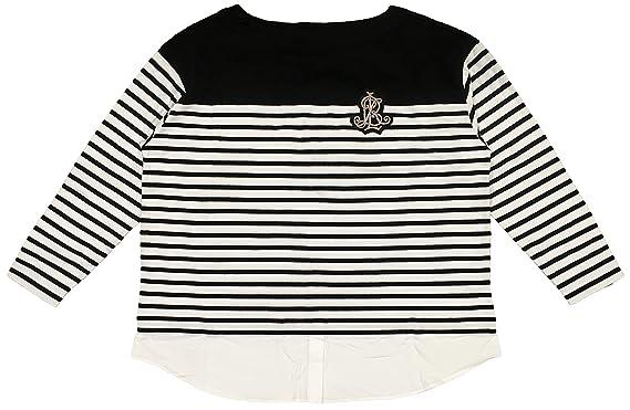 6d167133e Lauren Ralph Lauren Plus Size Layered-Look Striped Cotton Sweater ...