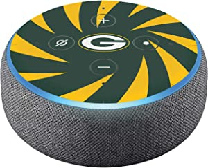 Head Case Designs Officially Licensed NFL Team Colour Stripes Green Bay Packers Glossy Vinyl Sticker Skin Decal Cover Compatible with Amazon Echo Dot (3rd Gen)
