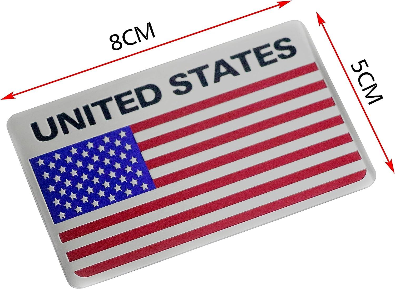 Pt Decors 2 Stücke Usa Vereinigte Staaten Abzeichen Aluminium Metall Graphic Aufkleber Auto Emblem Aufkleber Auto